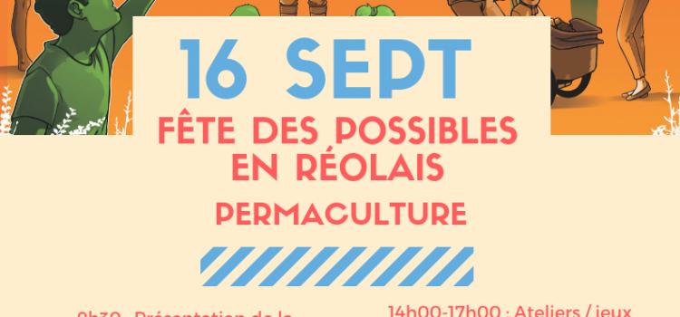 Fêtes des possibles le 16 septembre